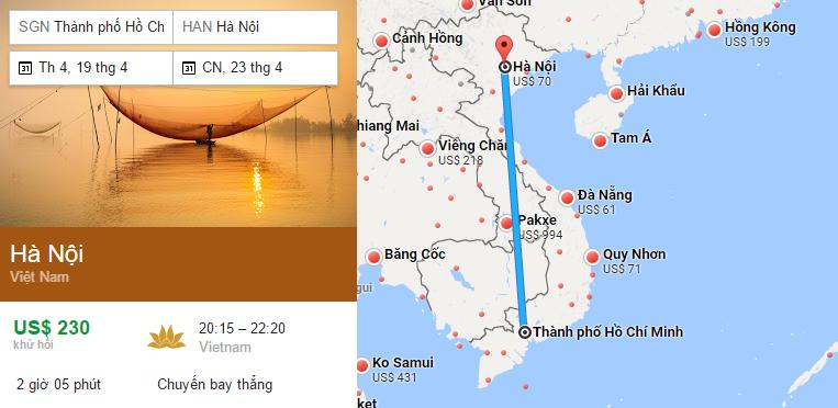 Tham khảo hành trình bay từ TP HCM đến Hà Nội