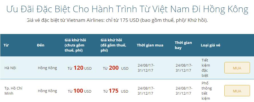 KM vé đi Hongkong giá rẻ.