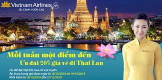 Giảm 20% giá vé máy bay khám phá Thái Lan