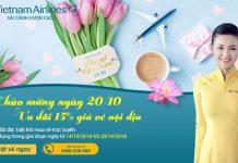 Vietnam Airlines giảm 15% hạng ghế giá vé nội địa
