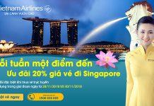 Ghé thăm Singapore cùng Vietnam Airlines giảm 20% giá vé máy bay