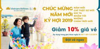 Cùng Vietnam Airlines khởi hành đầu năm tiết kiệm 10%