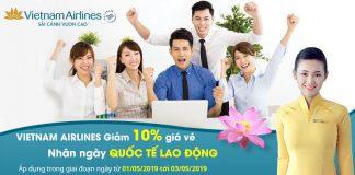 Khuyến mãi đặc biệt giảm 10% giá vé máy bay từ Vietnam Airlines