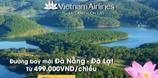 Chỉ 499.000 VND/chiều mừng đường bay mới Đà Nẵng – Đà Lạt