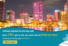 Vietnam Airlines khuyến mãi giảm 10% giá vé máy bay nhân 30/4
