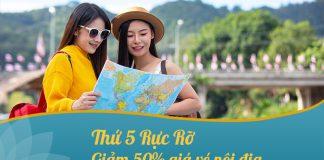Khuyến mãi săn vé thứ 5 giảm 50% giá vé Vietnam Airlines