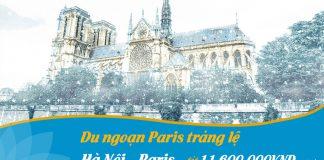 Khám phá Paris chỉ với 500 USD khuyến mãi Vietnam Airlines
