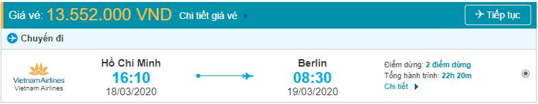 Vé máy bay từ tpHCM đi Berlin