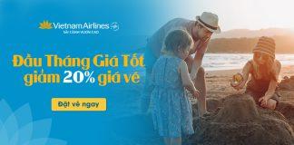 Vietnam Airlines khuyến mãi 5 ngày vàng giảm 20% giá vé máy bay