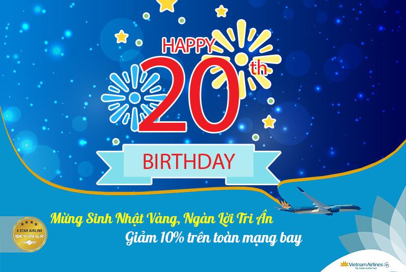 Mừng sinh nhật vàng Vietnam Airlines khuyến mãi 10% giá vé