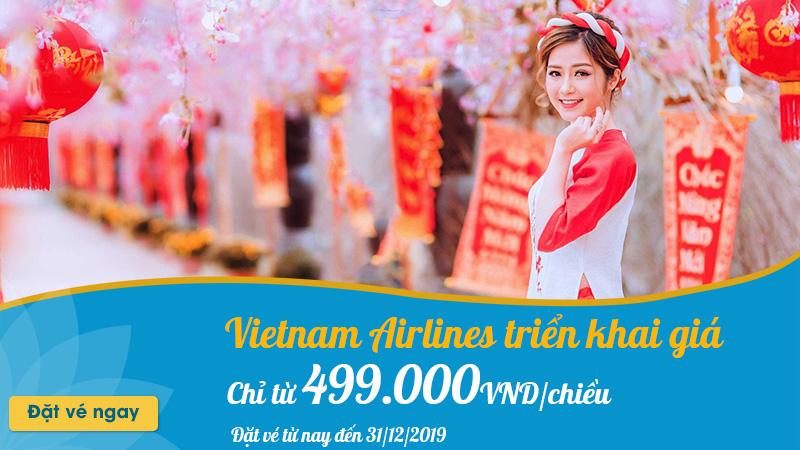 Vietnam Airlines triển khai vé máy bay Tết chỉ từ 499.000 VND