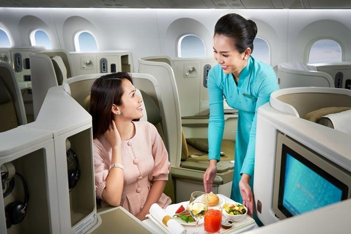 Quy định về suất ăn miễn phí trên máy bay Vietnam Airlines
