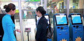 Tự làm thủ tục hành lý cùng Vietnam Airlines tại các quầy Kiosk