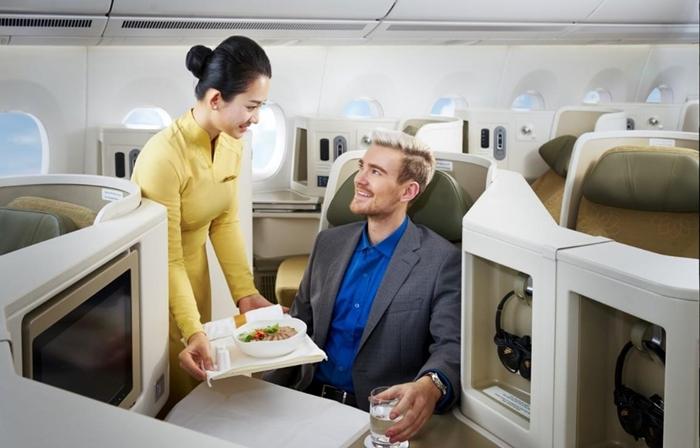 Suất ăn hạng thương gia Vietnam Airlines