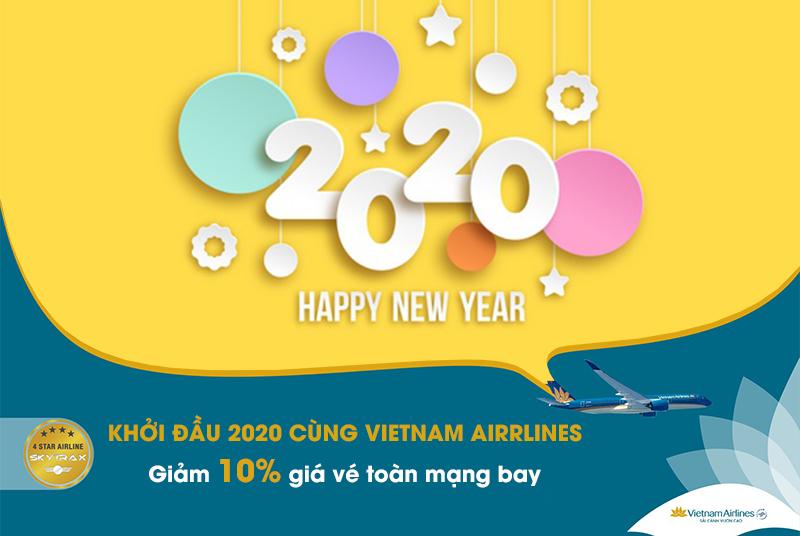 Vietnam Airlines khuyến mãi 10% giá vé khởi động 2020