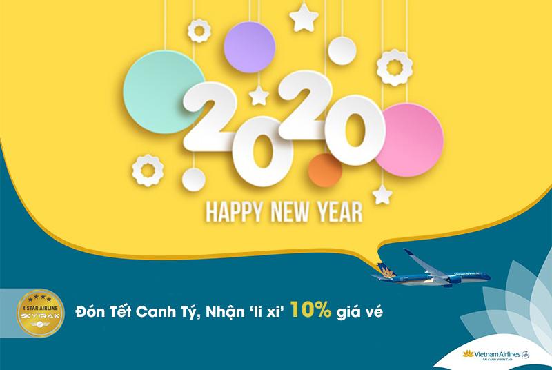 """Vietnam Airlines """"lì xì"""" 10% giá vé đón Tết Canh Tý"""