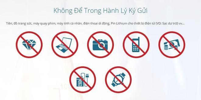 Đồ điện tử có được mang lên máy bay Vietnam Airlines hay không?