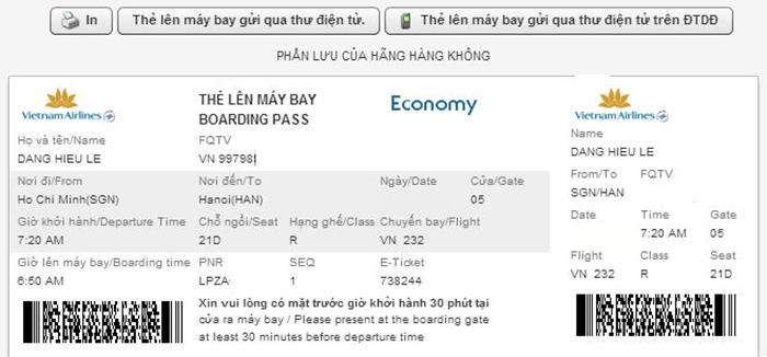 Hủy check-in online phải thực hiện trước chuyến bay bao lâu?