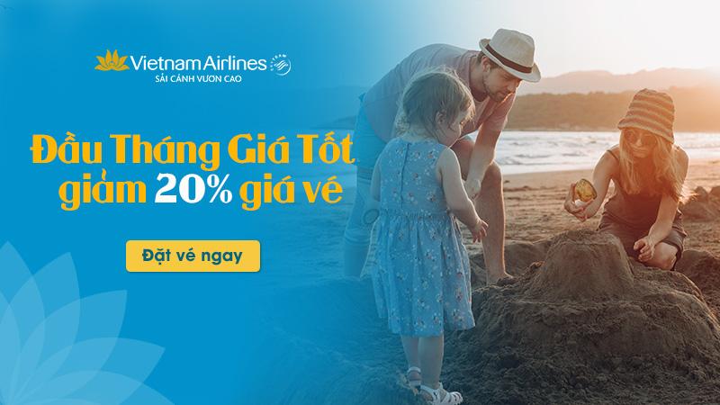 Khuyến mãi đầu tháng Vietnam Airlines: Giảm 20% giá vé trong 5 ngày duy nhất