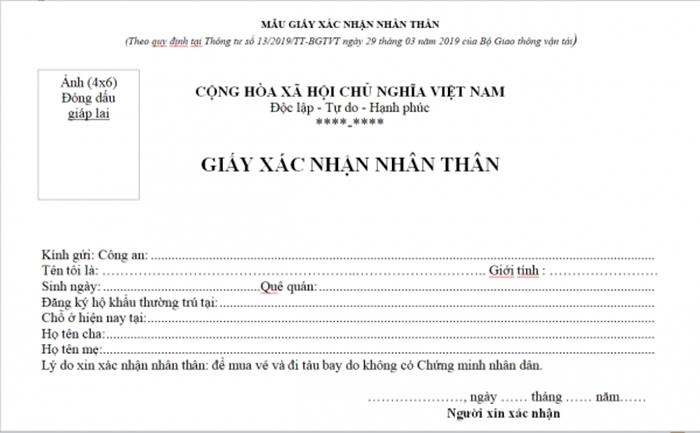 Xin giấy xác nhận nhân thân khi đi máy bay Vietnam Airlines ở đâu?